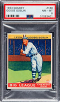 Baseball Cards:Singles (1930-1939), 1933 Goudey Goose Goslin #168 PSA NM-MT 8 - Only Two Higher. ...