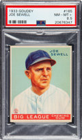 Baseball Cards:Singles (1930-1939), 1933 Goudey Joe Sewell #165 PSA NM-MT+ 8.5 - Pop Two, None Higher. ...