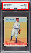 Baseball Cards:Singles (1930-1939), 1933 Goudey Sam Byrd #157 PSA NM-MT+ 8.5 - Pop Two, None Higher. ...