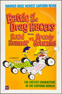 """Battle of the Drag Racers (Warner Bros., 1966) Folded, Very Fine-. One Sheet (27"""" X 41""""). Animation"""