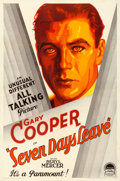"Movie Posters:Drama, Seven Days Leave (Paramount, 1930). Very Fine- on Linen. One Sheet (27"" X 41"") Style A.. ..."