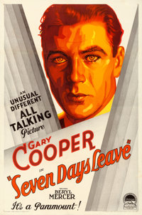 """Seven Days Leave (Paramount, 1930). Very Fine- on Linen. One Sheet (27"""" X 41"""") Style A"""