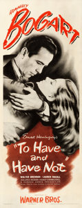 """Movie Posters:Romance, To Have and Have Not (Warner Brothers, 1944). Very Fine- on Paper. Insert (14"""" X 36"""").. ..."""