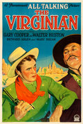 """Movie Posters:Western, The Virginian (Paramount, 1929). Very Fine on Linen. One Sheet (27"""" X 41"""") Style A Sound Version.. ..."""
