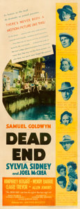 Movie Posters:Crime, Dead End (United Artists, 1937). Fine on Paper. In...