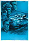 Movie Posters:War, The Caine Mutiny by Alfredo Capitani (Columbia, 1954). Very Fine-.Signed Original Italian Mixed Media Artwork on Illustrati...