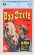 Golden Age (1938-1955):Western, Bob Steele Western #1 (Fawcett Publications, 1950) CBCS VF/NM 9.0 White pages....