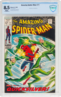 The Amazing Spider-Man #71 (Marvel, 1969) CBCS VF+ 8.5 White pages