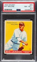 Baseball Cards:Singles (1930-1939), 1933 Goudey Pat Malone #55 PSA NM-MT+ 8.5 - Pop One, One Higher....