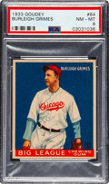 Baseball Cards:Singles (1930-1939), 1933 Goudey Burleigh Grimes #64 PSA NM-MT 8 - Only Two Higher. ...