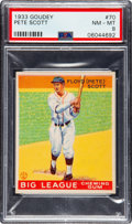 Baseball Cards:Singles (1930-1939), 1933 Goudey Pete Scott #70 PSA NM-MT 8 - Four Higher. ...