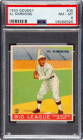 Baseball Cards:Singles (1930-1939), 1933 Goudey Al Simmons #35 PSA NM-MT 8. ...