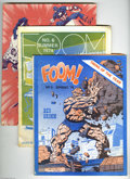 Magazines:Superhero, Foom Group (Marvel, 1974-77) Condition: Condition: Average VG. Thislot consists of issues #5, 6, 7, 8, 15 (Howard the Duck)... (Total:7 Comic Books Item)