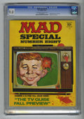 Bronze Age (1970-1979):Humor, Mad Special #8 (EC, 1972) CGC VF/NM 9.0 Off-white to white pages.Includes 16-page color TV Guide parody. Overstreet 200...