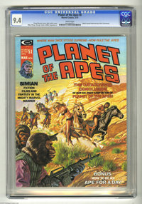 Planet of the Apes #6 (Marvel, 1975) CGC NM 9.4 White pages. Bob Larkin cover. Mike Ploog and George Tuska art. Overstre...