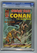Magazines:Miscellaneous, Savage Tales #5 (Marvel, 1974) CGC NM 9.4 Off-white to white pages.Conan, Brak the Barbarian, and Ka-Zar are featured. Neal...