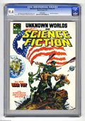 Bronze Age (1970-1979):Science Fiction, Unknown Worlds of Science Fiction #2 (Marvel, 1975) CGC NM 9.4 White pages. Roy Thomas story, Michael William. Kaluta cover....