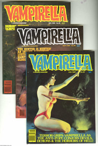 Vampirella Group (Warren, 1980-82) Condition: Average VF/NM. This lot consists of issues #89, 90 (Alex Toth art), 92, 95...