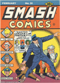 Original Comic Art:Miscellaneous, Gill Fox - Smash Comics #31 Cover Printer's Proof (Quality Comics,1942). Midnight, and his assistants, Doc Wackey and Gabby...