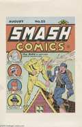 Original Comic Art:Miscellaneous, Gill Fox - Smash Comics #25 Cover Printers Proof (Quality, 1941).Dazzling color and crisp graphics await you on this one-si...