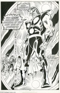 Original Comic Art:Splash Pages, Bob Hall and Don Heck - Avengers #301, Splash Page 27 Original Art(Marvel, 1989). The Avengers are confronted by a colossal...