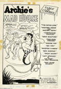 Original Comic Art:Splash Pages, Bill Vigoda (attributed) - Archie's Mad House #32 Contents PageSplash Original Art (Archie, 1964). Apeman swings past Capta...