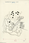Original Comic Art:Covers, Jim Carey (attributed) - Winnie the Pooh #29 Cover Original Art(Whitman, 1982). Winnie enjoys a jam session with his woodla...