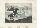 Original Comic Art:Miscellaneous, Zorro TV Title Illustration Original Art (1964). This Zorro titlestoryboard was detailed for a French TV company in graphit...