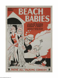 Movie Posters:Comedy, Beach Babies (Pathe', 1929)...