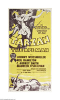 Movie Posters:Adventure, Tarzan the Ape Man (MGM, R-1954)...