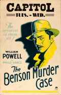 Movie Posters:Mystery, The Benson Murder Case (Paramount, 1930). Very Fine-.