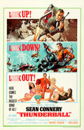 """Movie Posters:James Bond, Thunderball (United Artists, 1965). Very Fine on Linen. One Sheet (27"""" X 41"""") Jetpack Style, Frank McCarthy and Robert McGin..."""