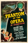 """Movie Posters:Horror, Phantom of the Opera (Universal, 1943). Fine on Linen. One Sheet(27"""" X 41"""") Style C.. ..."""
