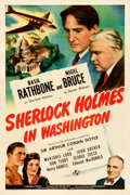 Movie Posters:Mystery, Sherlock Holmes in Washington (Universal, 1943). Fine/Very...