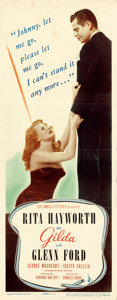 "Movie Posters:Film Noir, Gilda (Columbia, 1946). Folded, Fine+. Insert (14""..."