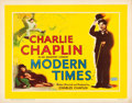 "Movie Posters:Comedy, Modern Times (United Artists, R-1950s). Rolled, Fine/Very Fine.British Half Sheet (22"" X 28"").. ..."