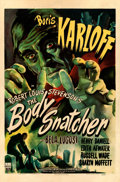 "Movie Posters:Horror, The Body Snatcher (RKO, 1945). Fine on Linen. One Sheet (27"" X41""). William Rose Artwork. Horror.. ..."