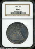 Proof Seated Dollars: , 1865 S$1 PR 65 NGC. ...