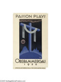 Vintage Posters:Miscellaneous, Passion Play (H. Sonnett, Germany, 1930)...