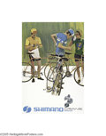 Vintage Posters:Miscellaneous, Shimano-Dura-Ace Caliper Brake (Circa 1979)... (4 items)