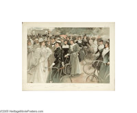 Cycling in Hyde Park (Vincent Brooks Day and Son Litho., 1896)