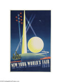 Vintage Posters:Miscellaneous, New York World's Fair (Grinnell Litho, 1939)...