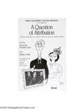 Vintage Posters:Advertising, PBS Masterpiece Theatre, Question of Attribution (1990)...