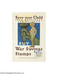 Vintage Posters:Miscellaneous, Save Your Child From Autocracy and Poverty (United States Printingand Lithograph Co.,1918)...