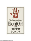 Vintage Posters:WWI, The Hun-His Mark Blot it Out (Brett Litho, 1917)...