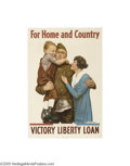 Vintage Posters:Miscellaneous, For Home and Country (American Lithographic Co., NY, 1918)...