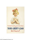 Vintage Posters:Miscellaneous, My Daddy Bought Me a Government Bond (United States Printing andLithograph Co., 1918)...