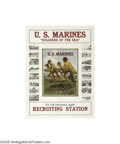 Vintage Posters:WWI, U.S. Marines - Soldiers of the Sea (U.S. Government Printing Office, 1918)...