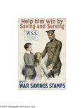Vintage Posters:WWI, Help Him Win By Saving And Serving (American Lithographic Co., 1917)...