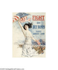 """Vintage Posters:Miscellaneous, Fight or Buy Bonds (Forbes, 1917) WW I Poster (40"""" X 60"""")..."""